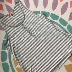 Forever 21 Striped Button Tank